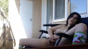 Milf jilling in public 7 - Milf masturbating on a balcony - Sireah Warden
